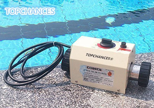 TOPCHANCES Electric Swimming Pool and SPA Thermostat - Input Voltage 220V (3 KW)