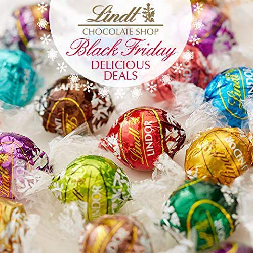 Lindt Lindor Assorted Chocolate Truffles 5-6 Flavors 60 Count In the Deluxe Tundras Gift Box