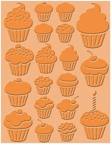 Craft Conc cArt-Us Embossing Folder Cupcakes