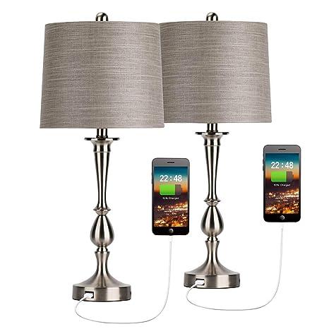 Amazon.com: Oneach Mondern Alexis - Juego de 2 lámparas de ...