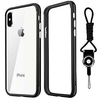 outlet store 20c32 5f175 YOMETOME iPhone X Case iPhone XS Case, Bumper Case iPhone X iPhone XS TPU  Hybrid Shockproof Anti-Scratch Finish Slim Thin Bumper Cover for Apple ...