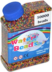 MINLIN 50000pcs/bag Home Decor Pearl Shaped Crystal Soil Water Beads Bio Gel Ball for Flower/Weeding Mud Grow Magic Jelly Balls (Mix-Color)