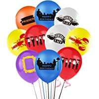 Friends TV Show Balloons, Happy Birthday Latex Balloon for Friends Theme Birthday Party Supplies and Decorations (30pcs)