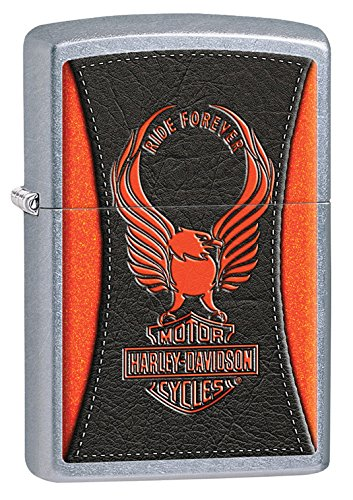 Zippo Harley-Davidson with Eagle & Logo Street Chrome Pocket Lighter