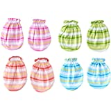 Baby Basics Multicolor Soft Cotton Striped Mittens - Pack Of 4