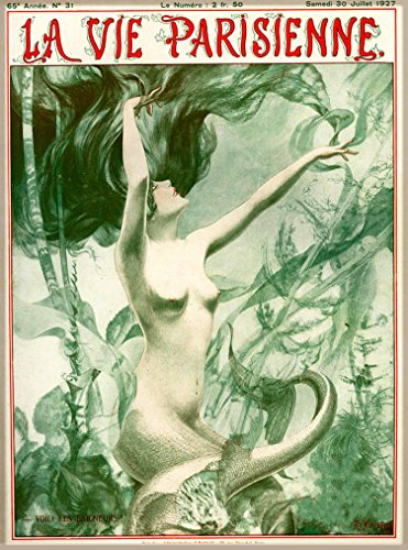 1927 La Vie Parisienne Mermaid Voici Les Baigneurs! for sale  Delivered anywhere in USA