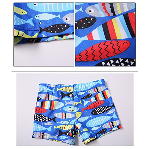 Asdomo Kids Boys Swimming Trunks Swim Shorts +Swimming Caps Printed Casual  Beach Holiday Swimwear Children: Amazon.co.uk: Sports & Outdoors