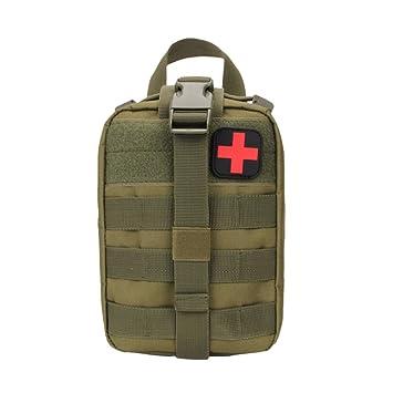 Tracffy 600D Mochila impermeable táctica con kit de primeros auxilios, herramientas, EMT, tejido blando y diseño con cruz: Amazon.es: Deportes y aire libre