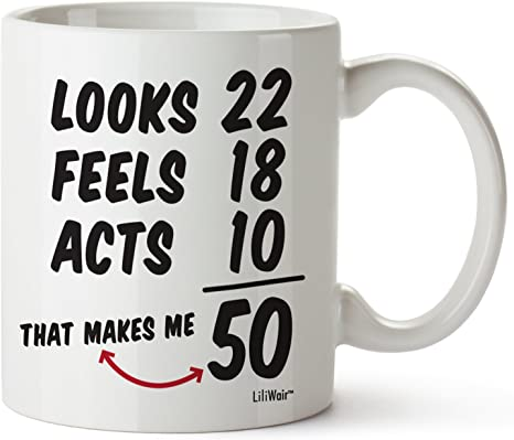 Amazon Com 50th Birthday Gifts For Women Fifty Years Old Men Gift Mug Happy Funny 50 Mens Womens Womans Wifes Female Man Best Friend 1971 Male Unique Mugs Ideas 70 Woman Wife Gag