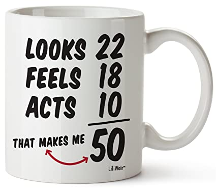 50th Birthday Gifts For Women Fifty Years Old Men Gift Mug Happy Funny 50 Mens Womens Womans Wifes Female Man Best Friend 1969 Male Unique Mugs Ideas