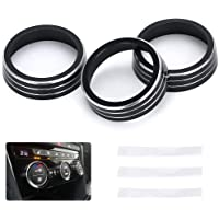 PTNHZ 3 Pcs Air Conditioning A/C Control Knob Ring Cover Trim Kit Decorative Relacement for 18-21 Volkswagen VW Atlas…