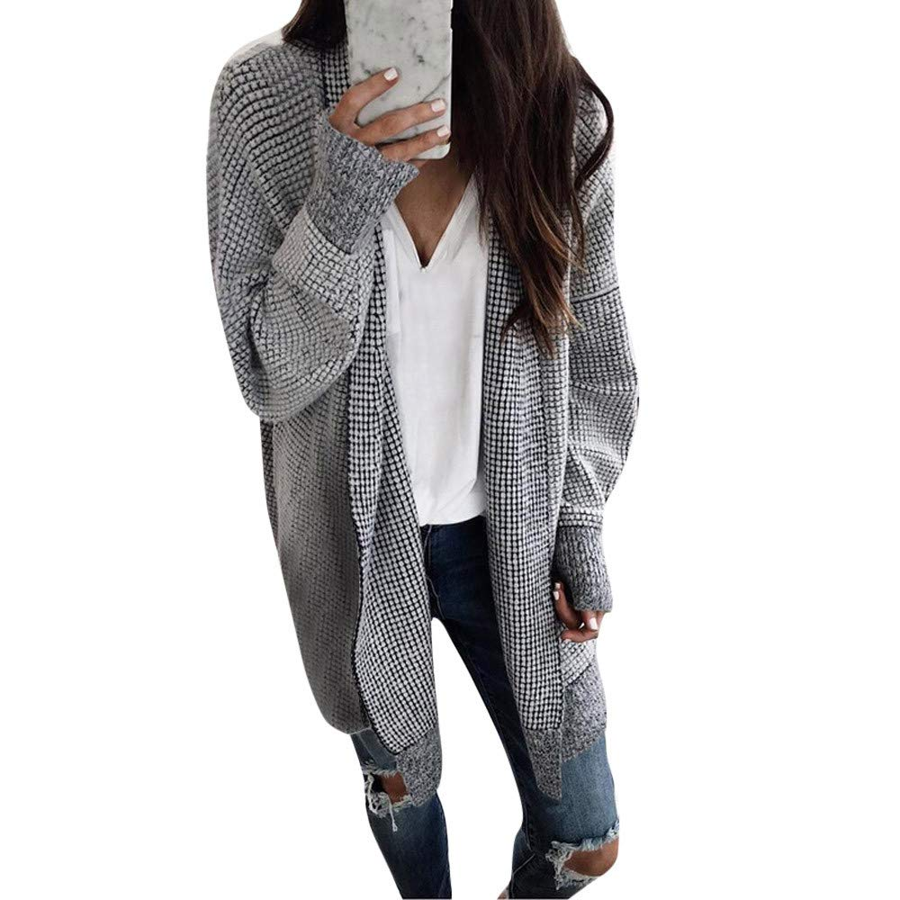 Orangeskycn Women Cardigan Shawl Knitted Top Thicker Outwear Coat Jacket Overcoat