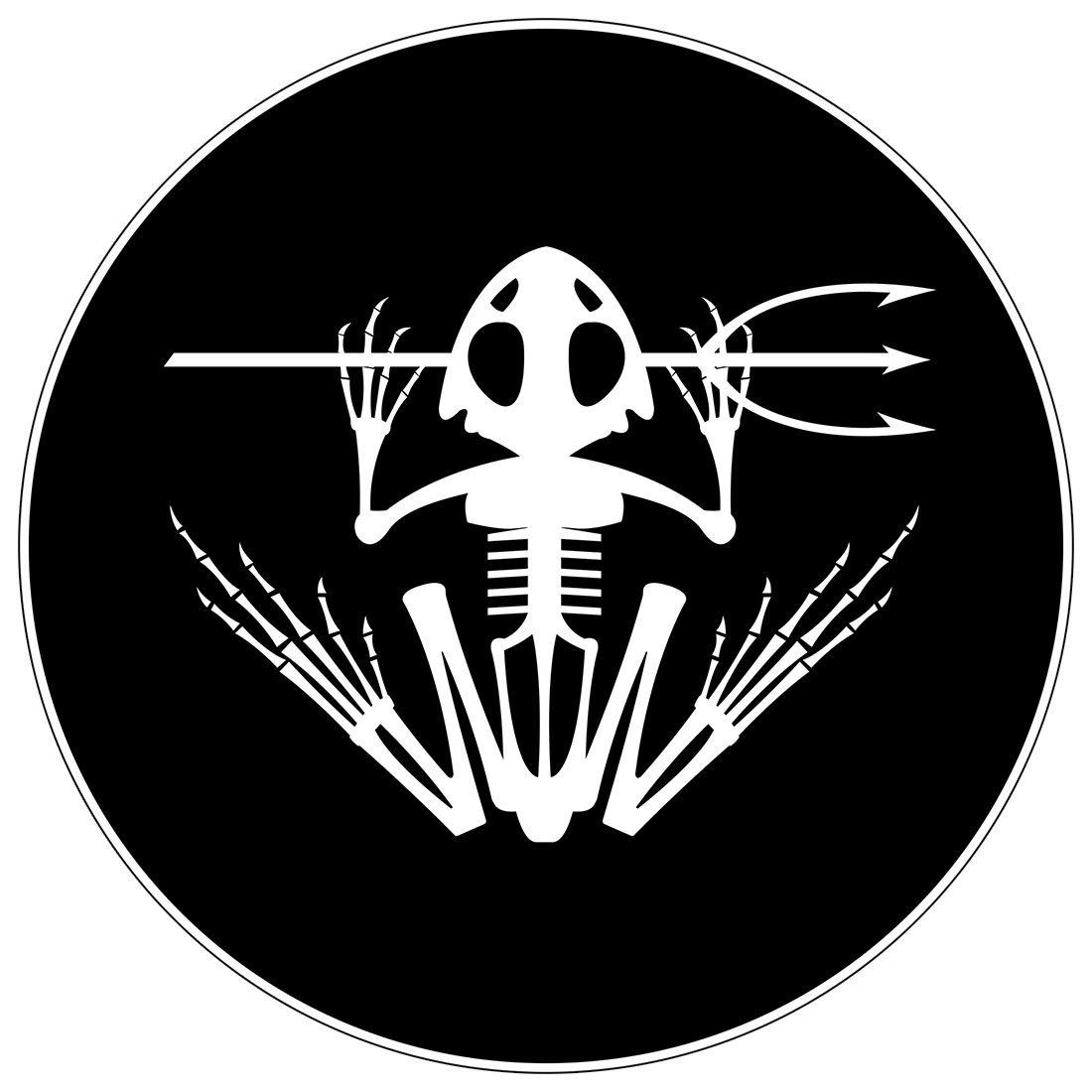 3S MOTORLINE 2X White 4 Devgru Team Frog Skeleton Decal Vinyl Sticker Car Laptop Window Die Cut no bkgrd
