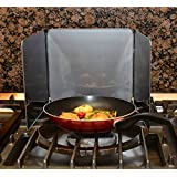 Anti Splatter Shield Guard - Stop the Spatter - Eliminates Mess - Easy to Clean - Compact Storage by Medipaq
