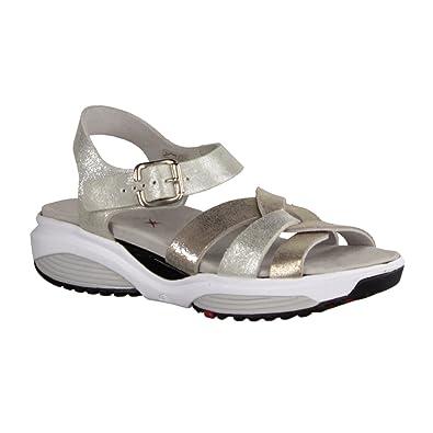 Rhodos- Damenschuhe Sandale Bequem/Lose Einlage, Weiß, Leder, Absatzhöhe: 30 mm Xsensible