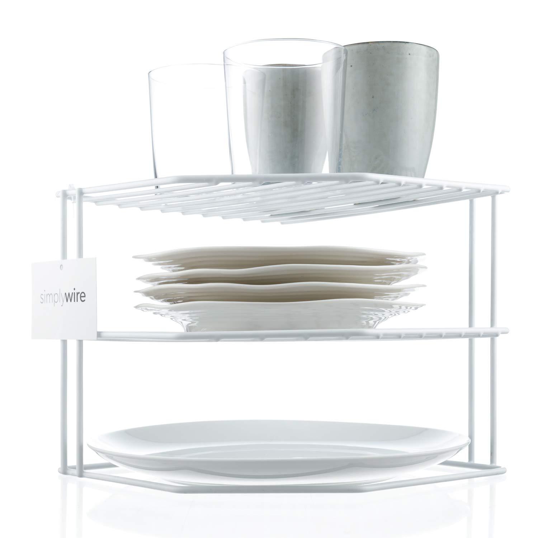 Supporto per piatti Organizer per armadi da cucina bianco simplywire 3 ripiani