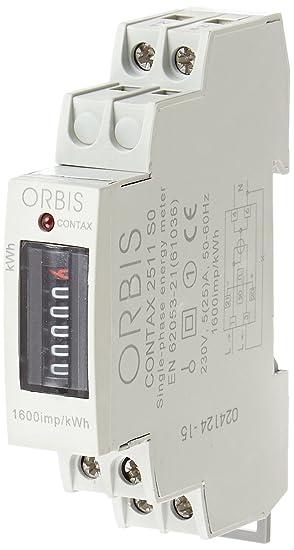 Orbis Contax 2511 SO 230 V analógico de energía Contador, OB701000: Amazon.es: Bricolaje y herramientas