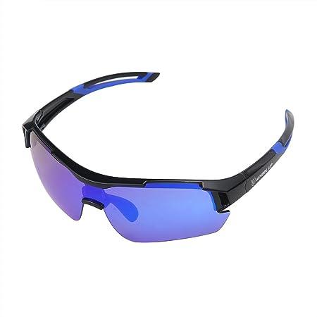 Aolvo Lunettes de soleil polarisées, verres d'équitation Sports Lunettes de soleil pour Baseball/cyclisme/pêche/Golf/Super Light Field Moto coupe-vent Miroir/lunettes de soleil, ajustement pour mâle o