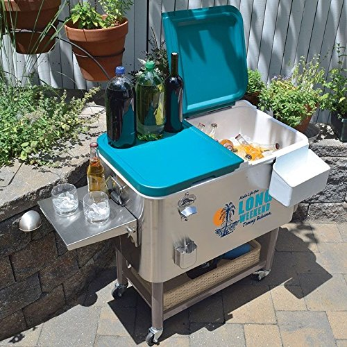Tommy Bahama 100 Qt Stainless Steel Rolling Party Cooler ...