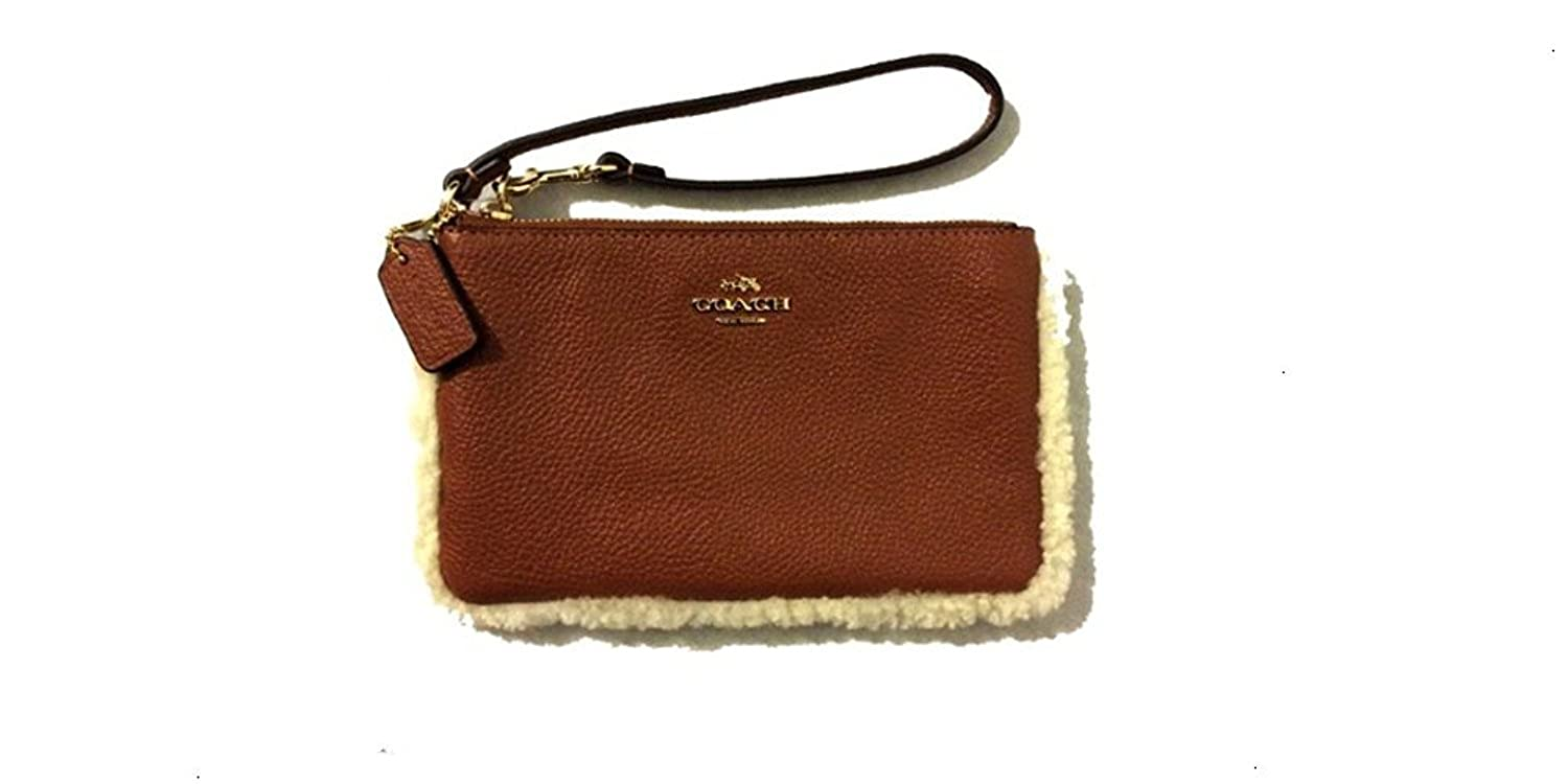 SMALL WRISTLET IN LEATHER AND SHERALING