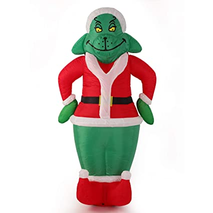 Image Unavailable - Amazon.com: 7 Foot Inflatable Grinch Yard Decorations Airblown