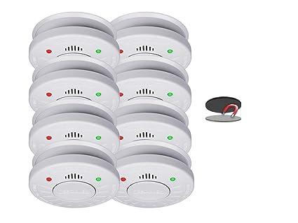 (8 unidades, ELRO 10 años - Detectores de humo (Certificado VDS de silencio