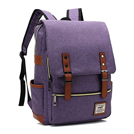 1b4ff99d1ef Canvas Backpack - Lightweight Laptop Backpack, Vintage Travel Backpack with  Laptop Sleeve, Campus Backpack with Side Pockets Canvas Rucksack for ...