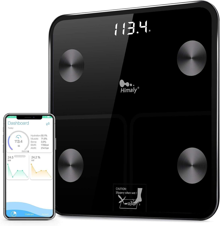 Balances numériques intelligentes pour la graisse corporelle, le poids corporel, l'indice de masse corporelle, l'humidité corporelle, la masse osseuse, les calories, les échelles