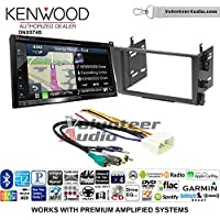 Volunteer Audio Kenwood DNX574S Double Din Radio Install Kit with GPS Navigation Apple CarPlay Android Auto Fits 2001-2003 Acura CL and 1999-2003 Acura TL (Factory Amplified)