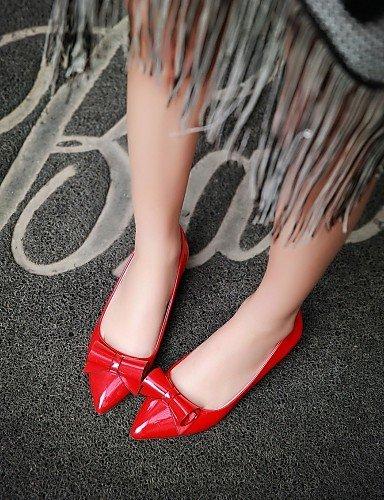 Toe eu35 blanco red sintética carrera Pisos aire zapatos mujer negro bajo piel PDX al punta tacón de oficina us5 cn34 de y rosa uk3 casual libre rojo ASqwxzp