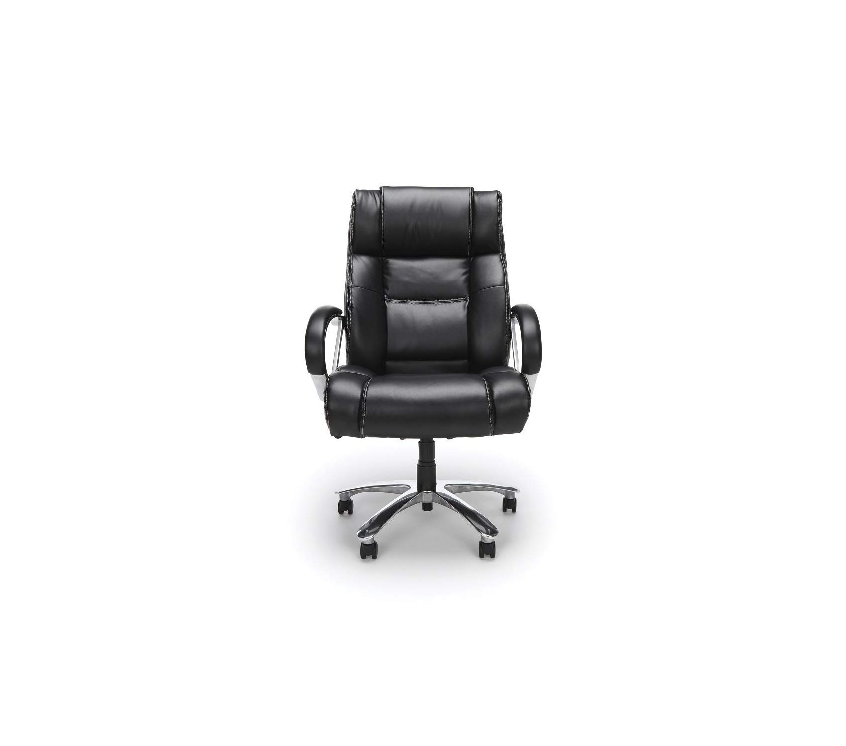 Оfm Avenger Series Big and Tall Leather Executive Chair - Black Computer Chair with Arms, Black/Chrome by Оfm (Image #2)