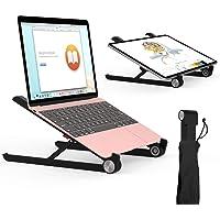 MiiKARE Soporte para computadora portátil, portátil, plegable, para computadora de sobremesa, MacBook, iPad, Pro, portátil, con ventilación, altura ergonómica para portátiles y tabletas, incluye bolsa de almacenamiento