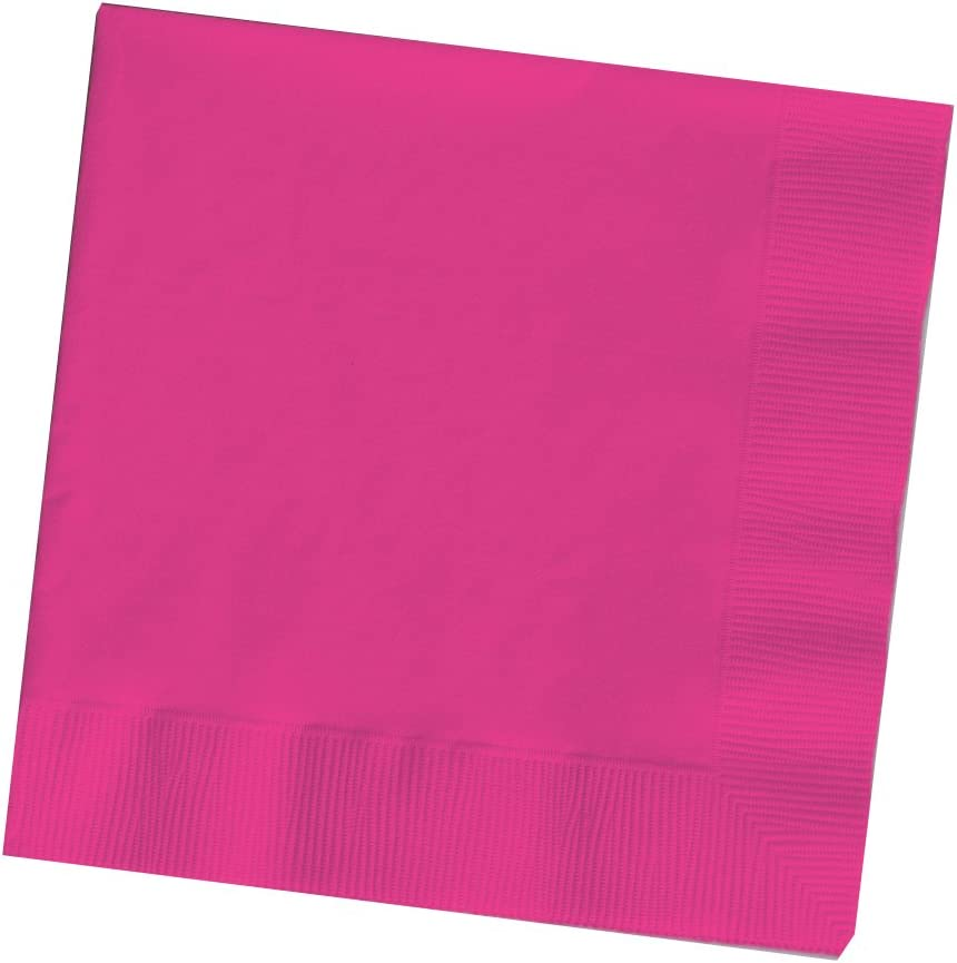Creative Converting DINNER NAPKINS 3PLY 1/4FLD, 25 Count, Hot Magenta