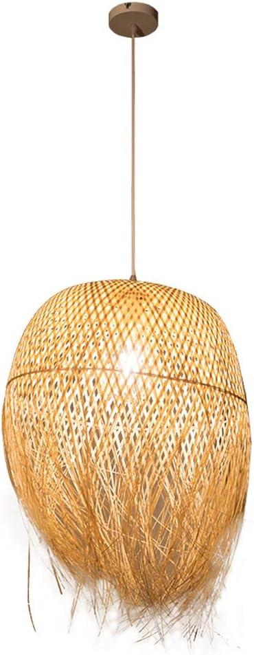 Modern techo LED E27tejido a mano de bambú Colgante Diseño Creativo Lámpara de pantalla koder iluminación de ratán Candelabros–Lámpara de techo para comedor dormitorio Ø45cm * 62CM