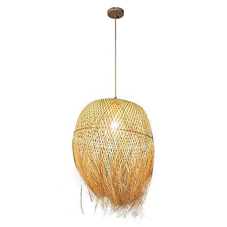 Modern techo LED E27 tejido a mano de bambú Colgante Diseño ...