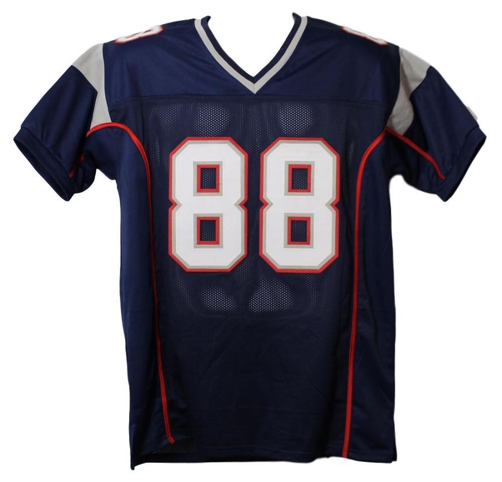 Martellus Bennett Autographed New England Patriots Blue XL Jersey JSA