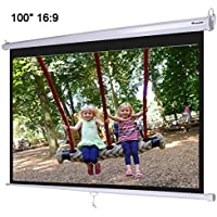 Instahibit 100 16:9 Manual Pull Down Projection Screen Wall
