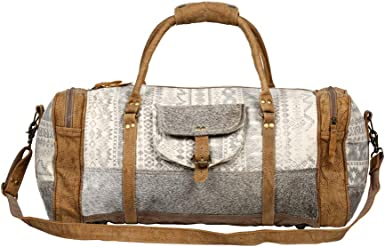 Amazon Com Myra Bag Statement Upcycled Canvas Cowhide Leather Travel Bag S 1270 Clothing New myra bag large tote bag canvas purse cowhide bag for vintage purse fashion women cowhide purse shoulder grocery bag casual work school. myra bag statement upcycled canvas cowhide leather travel bag s 1270
