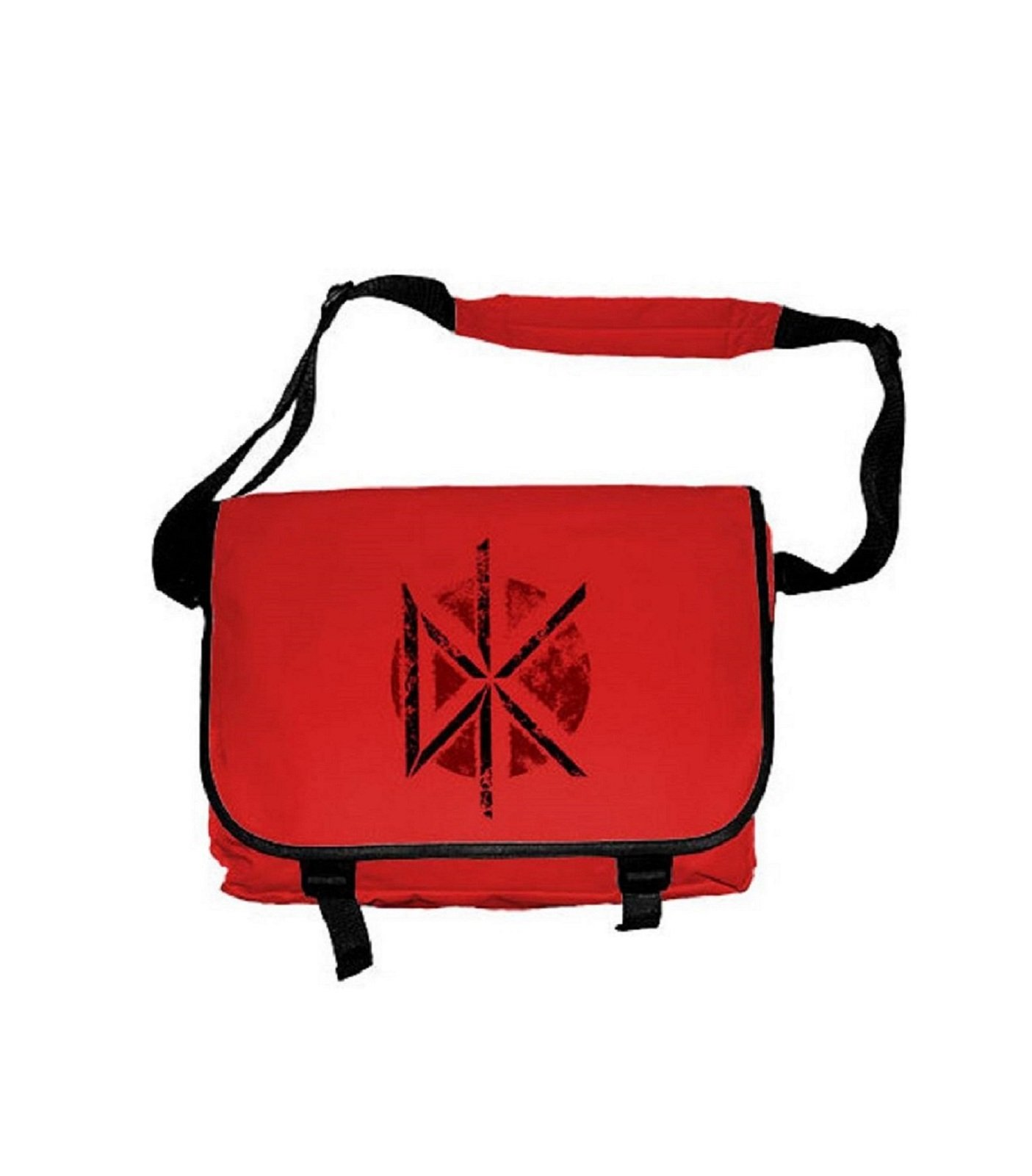 Dead Kennedys Distressed Dk Logo Official Red Messenger Bag by Plastic Head