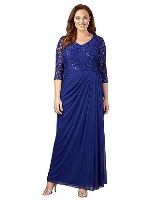 Alex Evenings Plus Size 4121682 Dress Size 18 Color Royal At