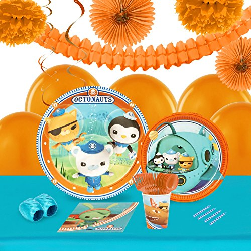 Octonauts Party Supplies - Tableware and Decoration Party Pack for 16 (Tunip Octonauts Costume)