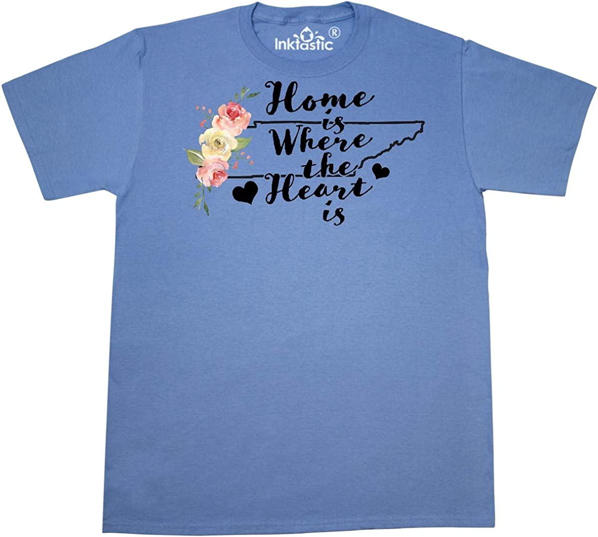 inktastic Tennessee Home is Where The Heart is with Watercolor Floral T-Shirt