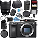 Sony Alpha a6500 Mirrorless Digital Camera (Body) ILCE6500/B + Sony FE 12-24mm f/4 G Lens SEL1224G + NP-FW50 Replacement Lithium Ion Battery + External Rapid Charger + Deluxe Cleaning Kit Bundle