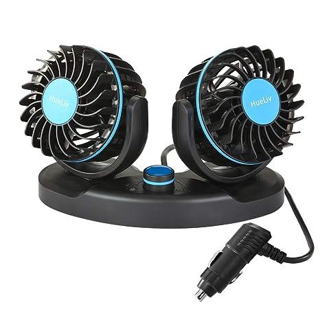 Amazon.com: Ventilador de coche eléctrico de 12 V con ...