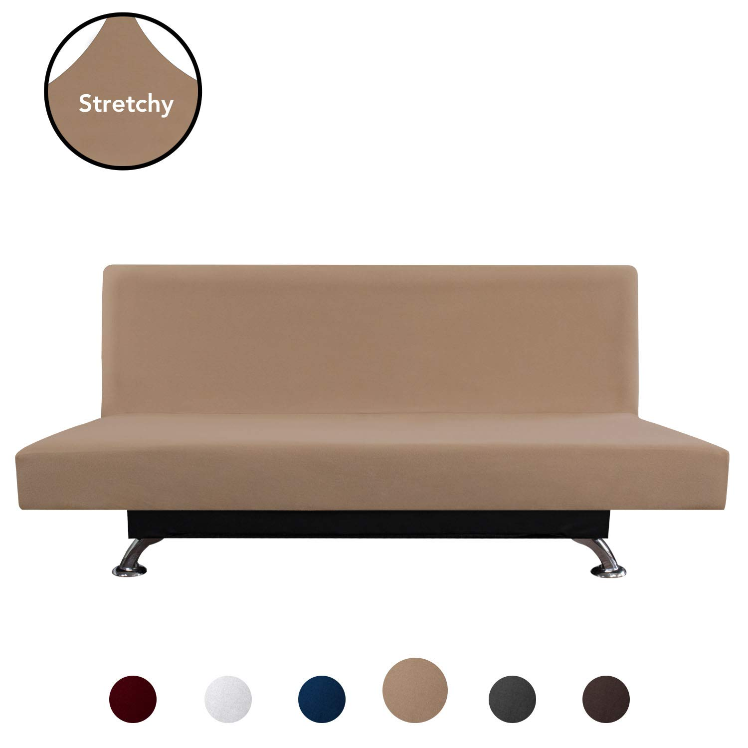 Stupendous Purefit Super Stretch Armless Chair Sofa Slipcover Spandex Anti Slip Soft Couch Sofa Cover Washable Furniture Protector With Elastic Bottom For Spiritservingveterans Wood Chair Design Ideas Spiritservingveteransorg