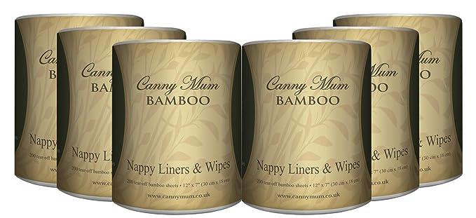 cannymum multiusos bambú 2 en 1 de pañal y toallitas (200 hojas/rollo): Amazon.es: Bebé