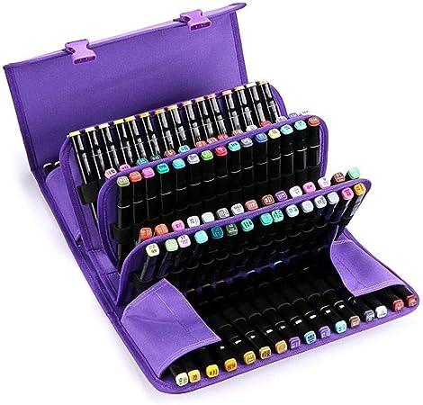 Estuche para lápices de almacenamiento, 120 agujeros, para dibujar y guardar lápices, bolsa para colorear morado: Amazon.es: Hogar