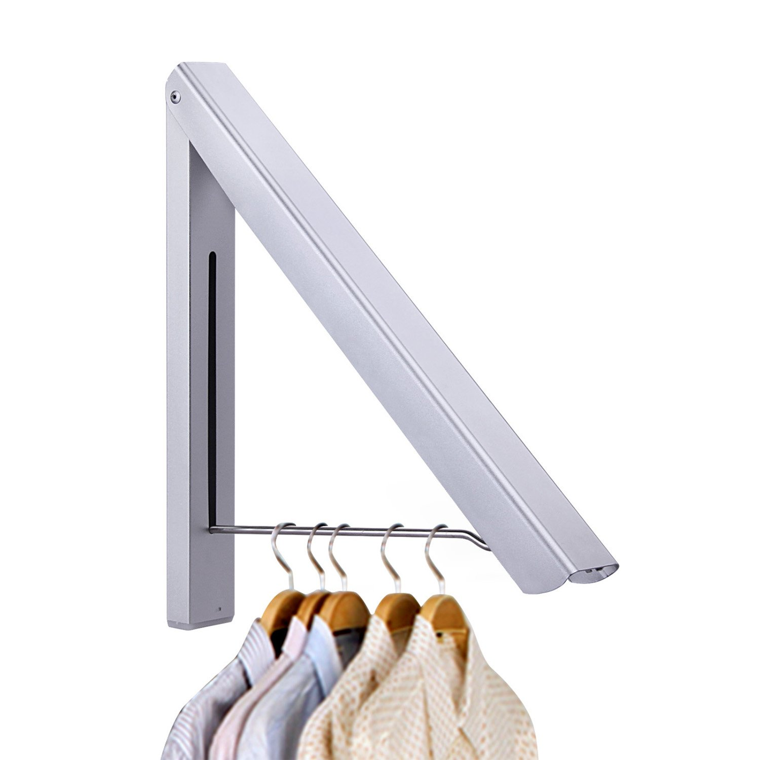 Aluminium Alloy Clothes Hanging System Free-Screw and Screwed Two-Way Installation Clothes Hanger
