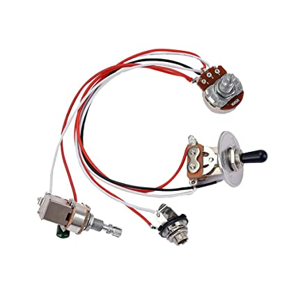 Amazon com: HEALLILY 1 Set Electric Guitar Wiring Harness