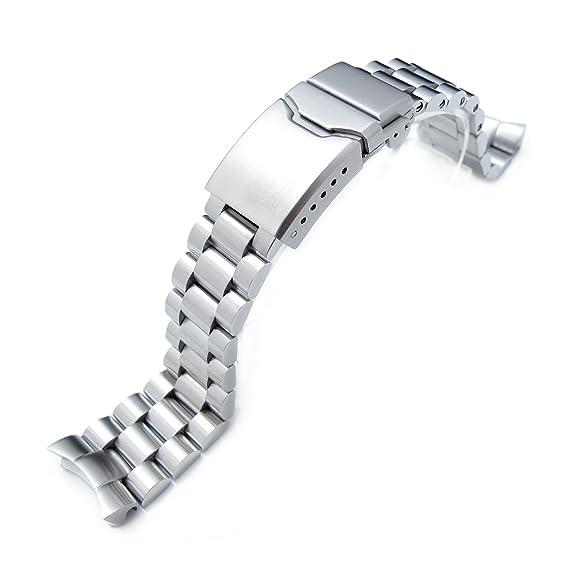 Correa de acero inoxidable para reloj SEIKO SKX007, 316L, 22 mm, Button Chamfer